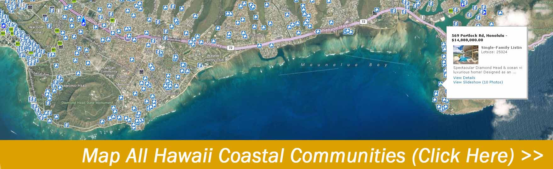 Map Hawaii Homes for sale