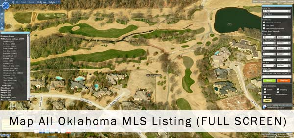 Oklahoma MLS Map of Oklahoma Real Estate and homes in Oklahoma